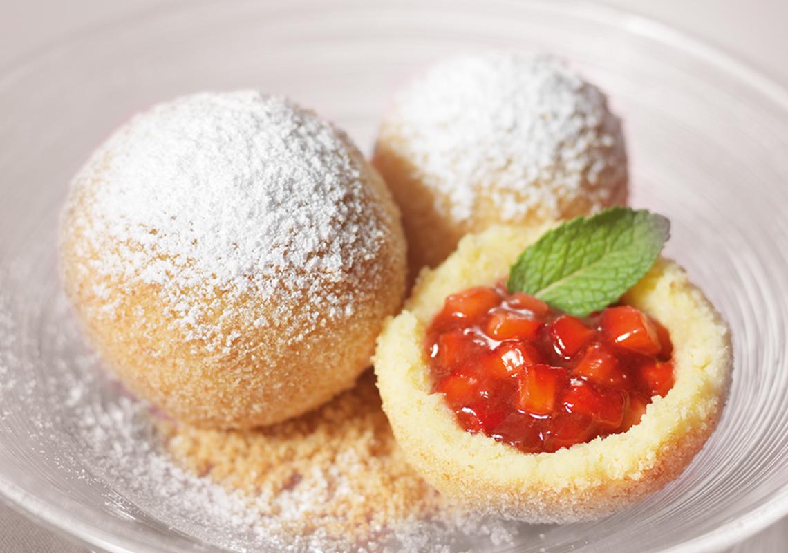 Erdbeerknödel von Meisterfrost - Tiefgekühlte Desserts und Süßspeisen